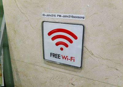 Free Wifi-in Every room & common area